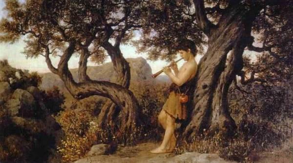 Henryk A Shepherd Playing Flute
